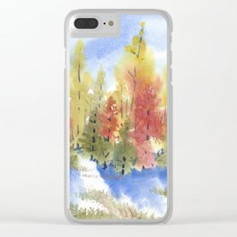 November Leaves Clear iPhone Case
