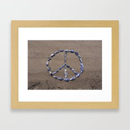 Peace Shells Framed Art Print