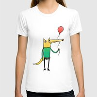 baloon T-shirts featuring Fox & Baloon by Pedro Vilas Boas
