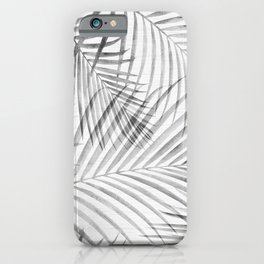 Black and White Tropical Palms iPhone Case