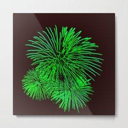 Neon Fireworks Metal Print