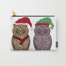 Santa Owl and Elf Owl Carry-All Pouch