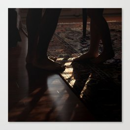 Feet in Shadow Canvas Print