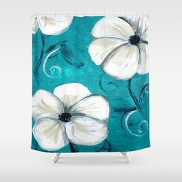 Flowers in Oil Shower Curtain