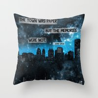paper towns Throw Pillows featuring Paper Towns John Green Quote by denise