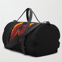 Butterfly - Vibrant Glow - Orange Brown Yellow Black Duffle Bag