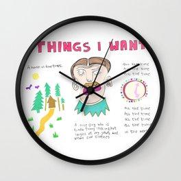 Things I Want Wall Clock
