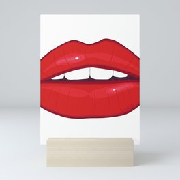 Hot lips Mini Art Print