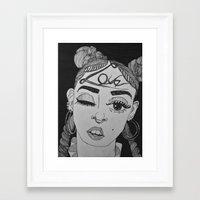 fka twigs Framed Art Prints featuring FKA TWIGS by cassandralitten