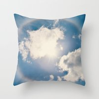 halo Throw Pillows featuring Halo by RDelean