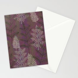 Ferns Purple Stationery Cards
