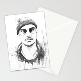 Shannon Leto Watercolor Black & White Stationery Cards
