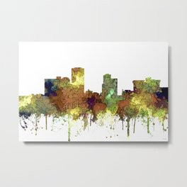 Little Rock, Arkansas Skyline - Safari Buff Metal Print