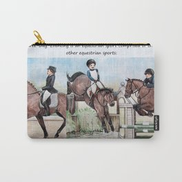 Three Day Eventing: Sport of the Brave Carry-All Pouch