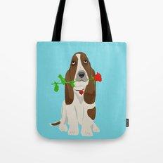 Basset Hound Dog in Love Tote Bag