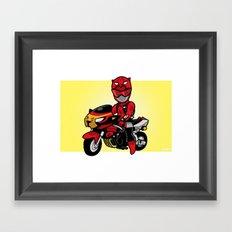 BusterRed Mini-Print Framed Art Print