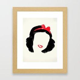 Snow's Hair Framed Art Print