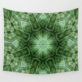 Green Stripes Kaleidoscope 3 Wall Tapestry