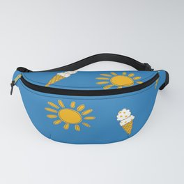New Zealand summer and sun in bright blue and yellow Fanny Pack