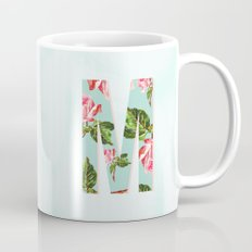 Floral Letter M - Letter Collection Mug