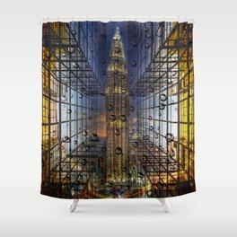 Rain in a City Shower Curtain