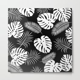 TROPICAL LEAVES 6 Metal Print