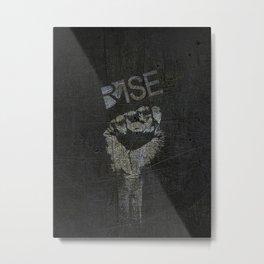 Black Lives Matter T-Shirt BLM Black Power Fist Salute Rise Metal Print