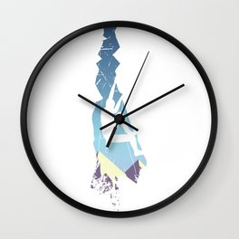Vintage Devil's Tower Mountain Climbing Wall Clock