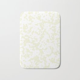 Tiny Spots - White and Beige Bath Mat