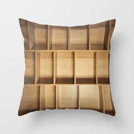 empty closet Throw Pillow