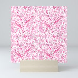 Mermaid Toile - Hot Pink Mini Art Print
