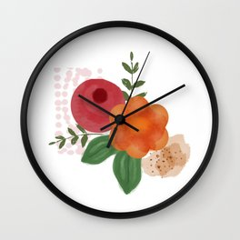 Berries of nature. Wall Clock