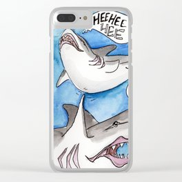 Shark Tickles Clear iPhone Case