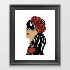 Flamenco Dancer   Spanish Girl   Fashion Illustration Framed Art Print