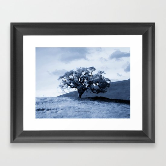 Vallecitos Road Oak Tree 005 Framed Art Print