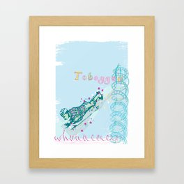 Toboggan ride...woahhhhhhhh! Framed Art Print