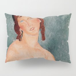 """Amedeo Modigliani """"Young Woman in a Shirt (The Little Milkmaid)"""" Pillow Sham"""