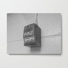 Fire Alarm Metal Print