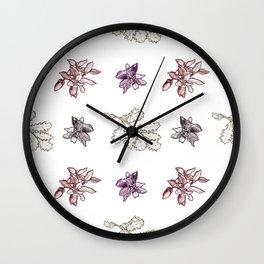 Quercus (reds) Wall Clock