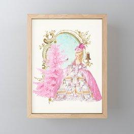 Marie Antoinette Christmas Framed Mini Art Print