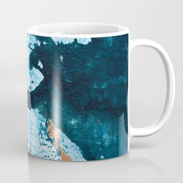 Dust and Matter: a pretty abstract painting in blue and gold by Alyssa Hamilton art Coffee Mug