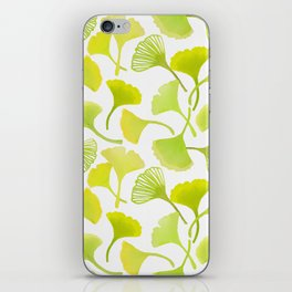 First Day of Autumn Ginkgo Leaves iPhone Skin