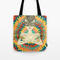 superheroes Tote Bags featuring Superheroes SF by Krisonautopilot