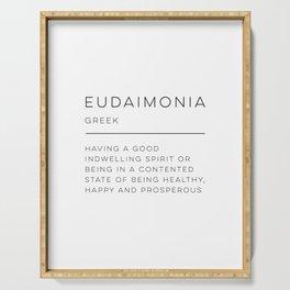 Eudaimonia Definition Serving Tray