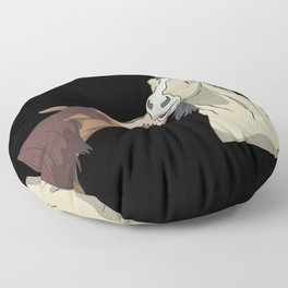 Horses kissing Floor Pillow