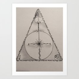 There Once Was a Boy Named Harry... Art Print