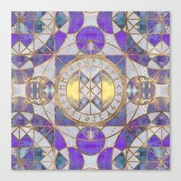 Web of Wyrd - Purple Painted Texture Canvas Print