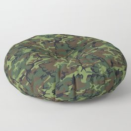 Green and Brown Camouflage Pattern Floor Pillow
