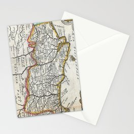 Vintage Map of Portugal (1747) Stationery Cards