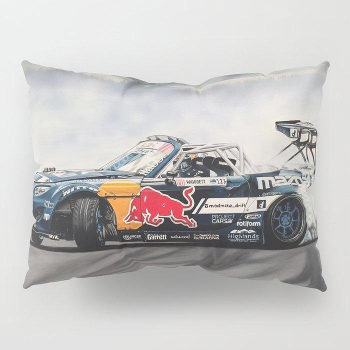 Mad Mike Drift Car Pillow Sham